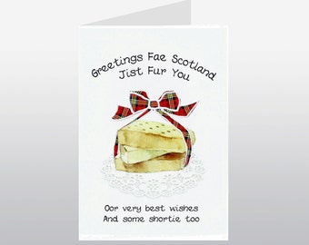 Scottish Greeting Card Shortbread Scotland WWGR17