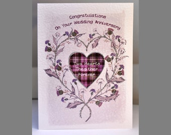 Special Wishes Large Thistle Heart Anniversary Card SW WE12