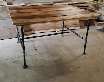 Iron leg custom tables