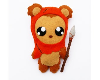 Star Wars Ewok Felt Plushie Plush Doll or Ornament