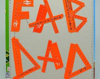 Handmade Eco-Friendly FAB DAD Card, One-Of-A-Kind