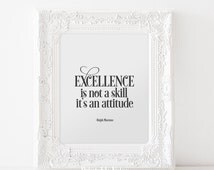 Excellence Skill Attitude Ralph Marston Poster Success Wisdom Digital Download Printable Quote Wall Art Interior Typography Words of Wisdom