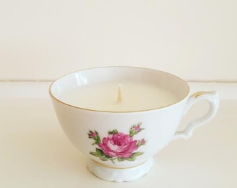 Soy wax teacup candle