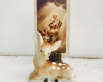 Baby Deer Fawn Vintage Ceramic Japan