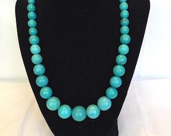 Semi Precious Turquoise Necklace
