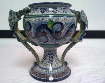 Large ceramic vase with Dragon-1930/40-Italian ceramic Vase