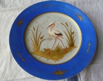 Pretty plate with stork