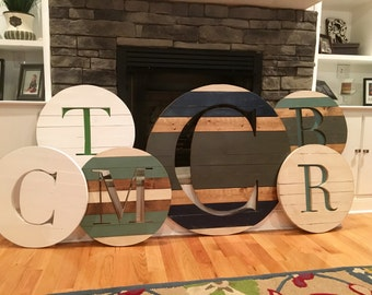 Custom wood monogram