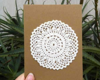 Handmade Doily Greeting Card // 105mm x 150mm