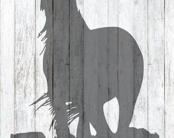Silhouette Horse SVG File