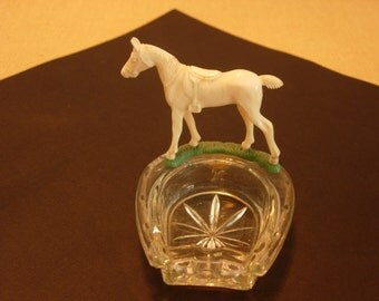 Lucky Horseshoe ashtray with Horse