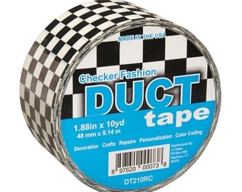 Checkered Flag Fashion Duct Tape