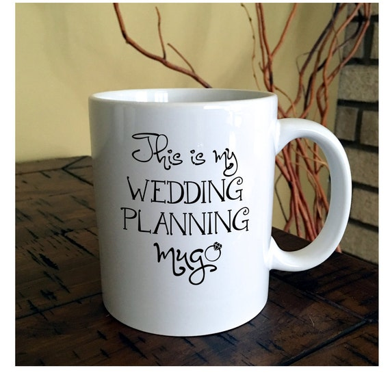 Wedding Planner Gifts: Wedding Planning Coffee Mug Engagement Gift Bride To Be