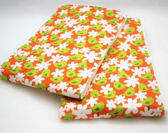 Premium Baby BURP CLOTHS - Set of 2 - Cute Dandelion FOX Print