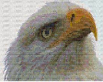 Dramatic Eagle Cross Stitch Chart PDF