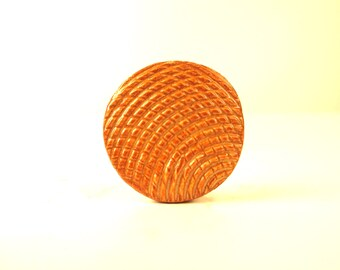 Orange Ripple Brooch - subtle green highlights