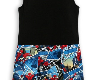Spiderman Play Dress Black