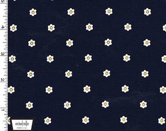 Seize the Daisy in Navy by Michael Miller