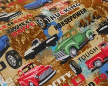 Truck Fabric - 4x4 On the Road Again by Kanvas - 100% Quality Cotton by the Yard