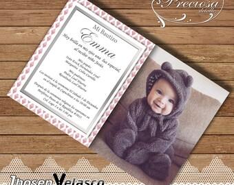 Photography, girl printable invitation - Invitation printable girl