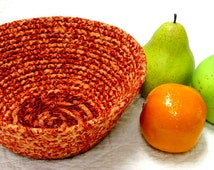 Coiled Fabric Bowl, Basket, Fruit Basket, Fruit Bowl, Bread Basket, Wedding Favor Basket, Key Keeper, Card Holder, Storage, Clutter Keeper