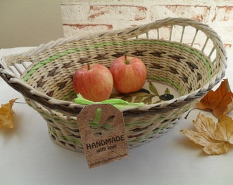 All purpose basket, fruit basket, basket made of paper