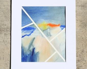 Original Contemporary Abstract Modern Art, 8x10 - Lines Series V