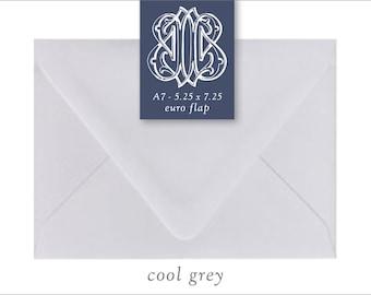 Cool Grey | 10 Blank A7 Euro Envelopes