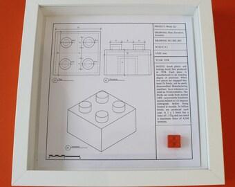 Lego block 2 x 2