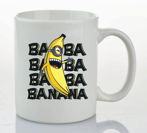 Minion Mug Funny Mugs Cool Gifts By Blackowldesign On Etsy