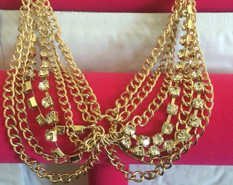 Gold mixed drape chain!!