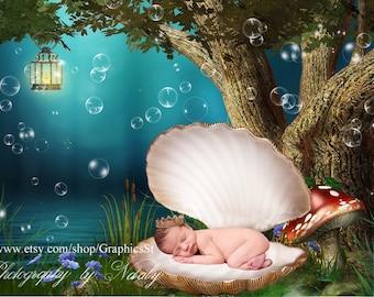 Newborn photography props digital backdrop photo   Newborn prop   Newborn background  fantasy