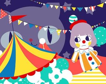 Circus 4x6 Print