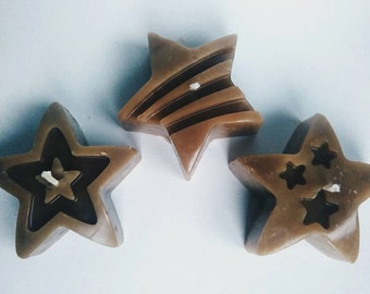Chocolate Star candle