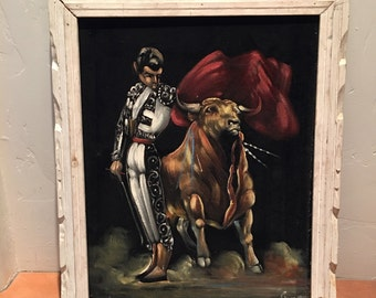 Authentic Velvet Bullfight Painting