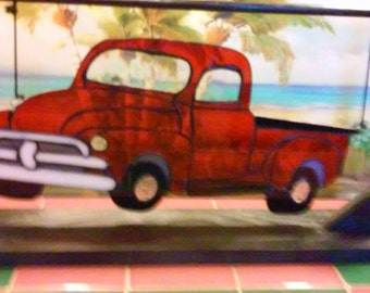 Stained Glass '54 Chevy Pickup Car