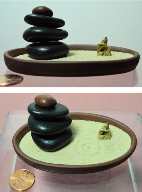 Zen garden zen rake miniature zen garden tabletop zen sand - Japanese sand garden mini ...