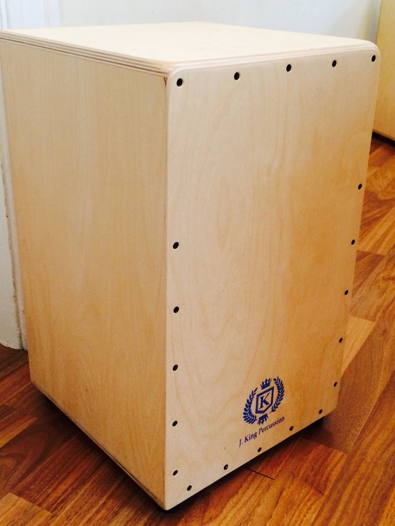 Professional All Birch Cajon w/Drum Key Adjustable String Tension - Natural