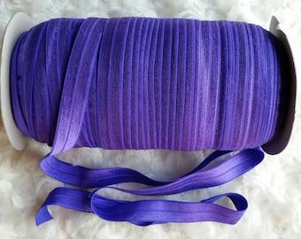 Purple Fold Over Elastic, Purple FOE, Purple Headband, Headband
