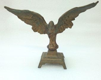 Vintage Old brass sculpture of an eagle