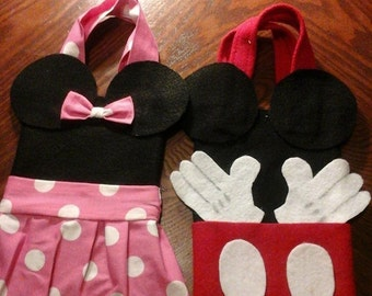 Minnie and Mickey goodie bags