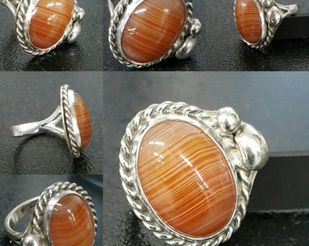 Agate Sterling Silver Ring