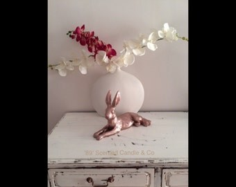 Home Decor Stunning Trending Rose Gold Bunny Rabbit Hare Ornament