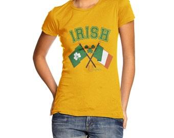 Women's Irish Flag St Patricks Day T-Shirt