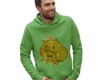 Men's Ink Splat Frog Prince Hoodie