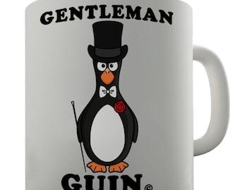 Gentleman Guin Funny Penguin Ceramic Novelty Mug