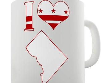 I Love Washington DC State Ceramic Novelty Gift Mug