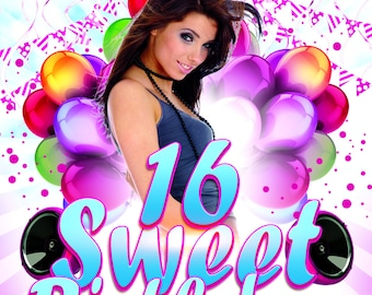 Sweet 16 Card Invitation