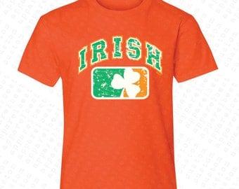 Irish Flag Ireland Flag with Irish Colored Shield Youth T-shirt Tank Top USA Flag 4th of July Tanks St Patrick's Day