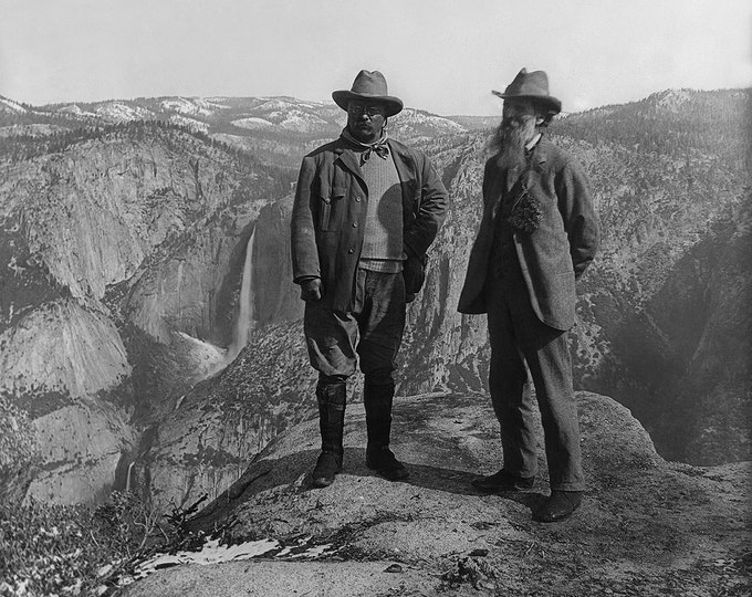 President Theodore Roosevelt With John Muir at Yosemite - 5X7 or 8X10 Photo (AA-674)